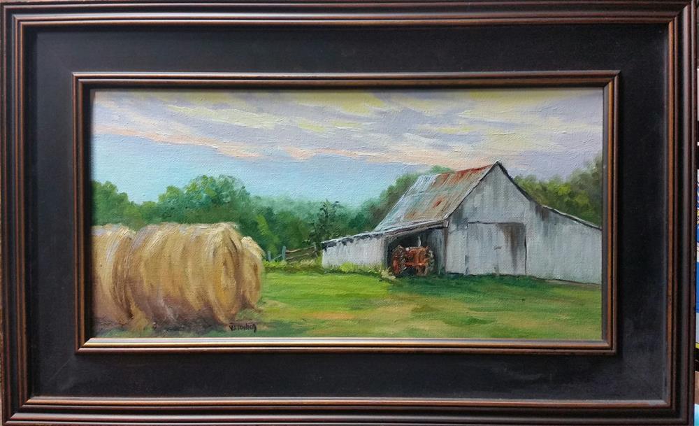 """Wehmeyer Farms-en plein air"" original fine art by Veronica Brown"