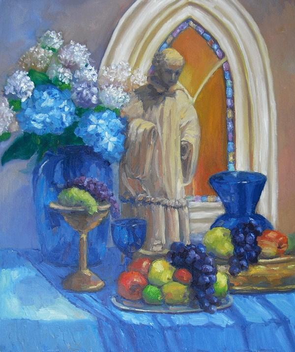 """Blessing in Blue"" original fine art by Kathy Johnson"