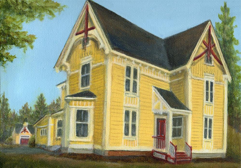 """Custom House Portrait"" original fine art by Debbie Shirley"
