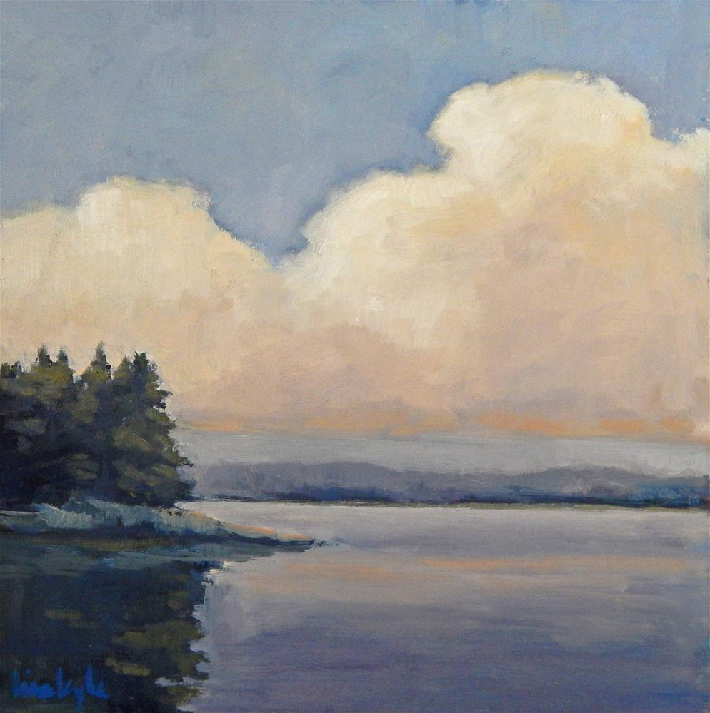 """""""Clouds and Water"""" original fine art by Lisa Kyle"""