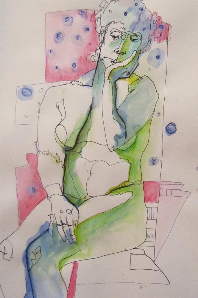 """Sketchbook Figure Study #8"" original fine art by Patricia MacDonald"