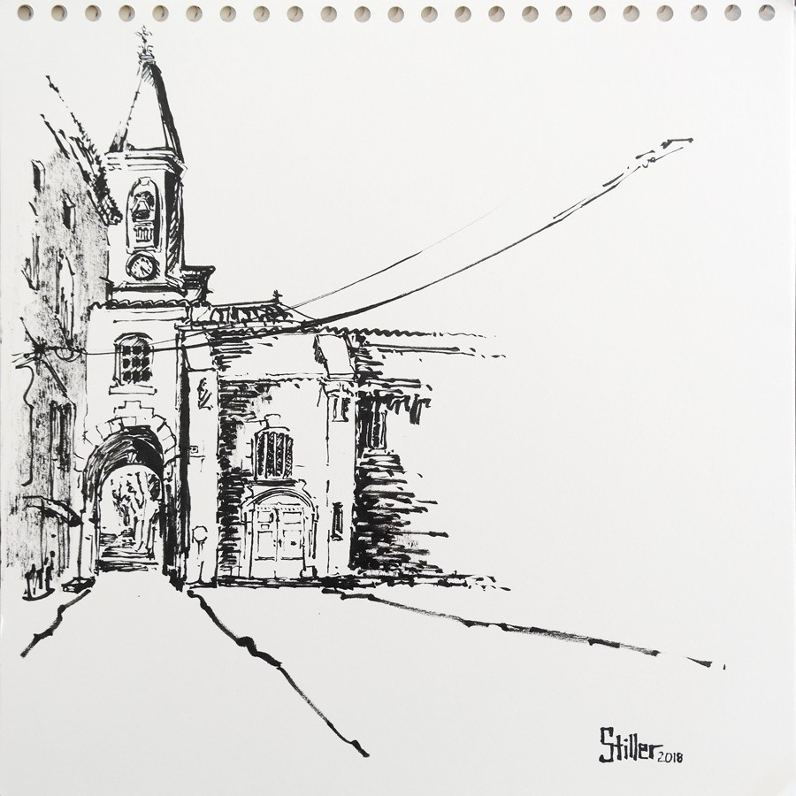 """2596 Saint-Didier"" original fine art by Dietmar Stiller"