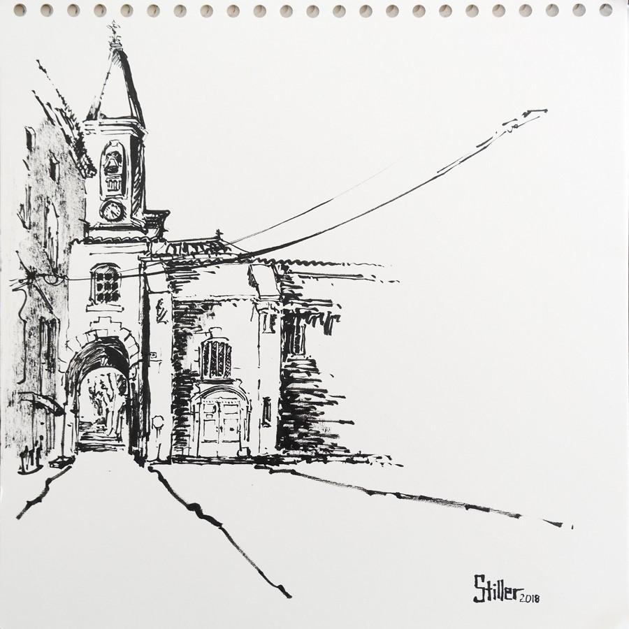 """2596 Saint-Didier"" original fine art by Dietmar Stiller"