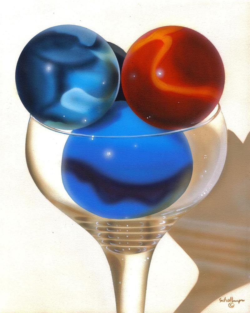"""""""Marbles # 24"""" original fine art by Fred Schollmeyer"""