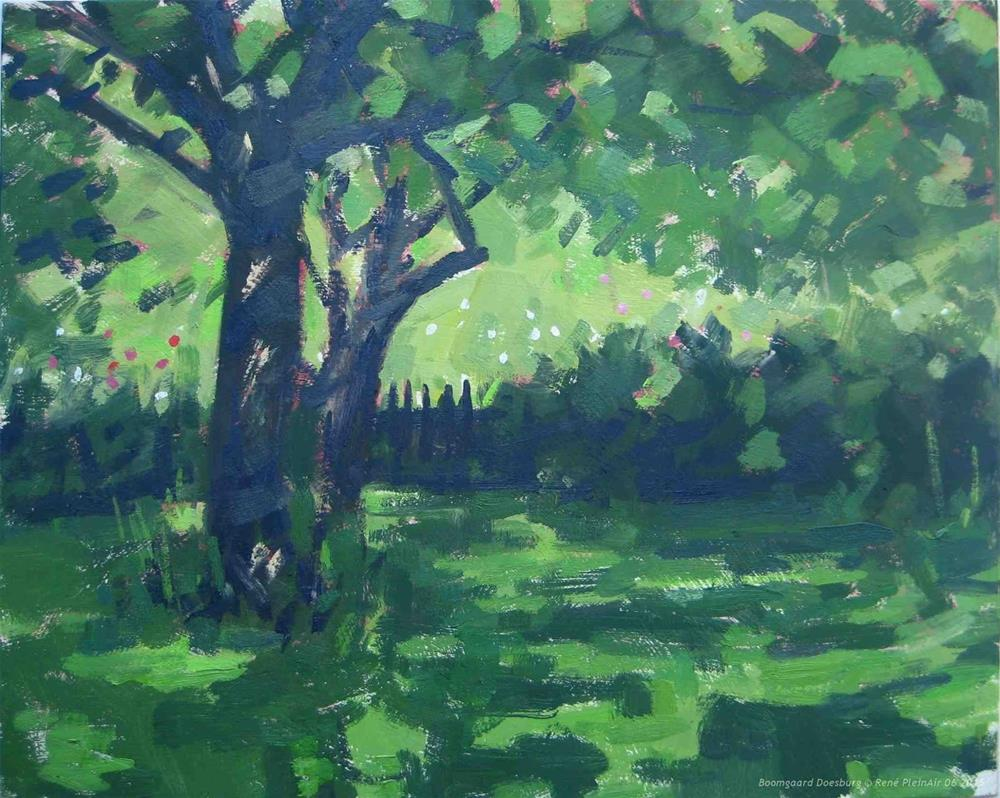 """Treegarden.  Doesburg, The Netherlands"" original fine art by René PleinAir"