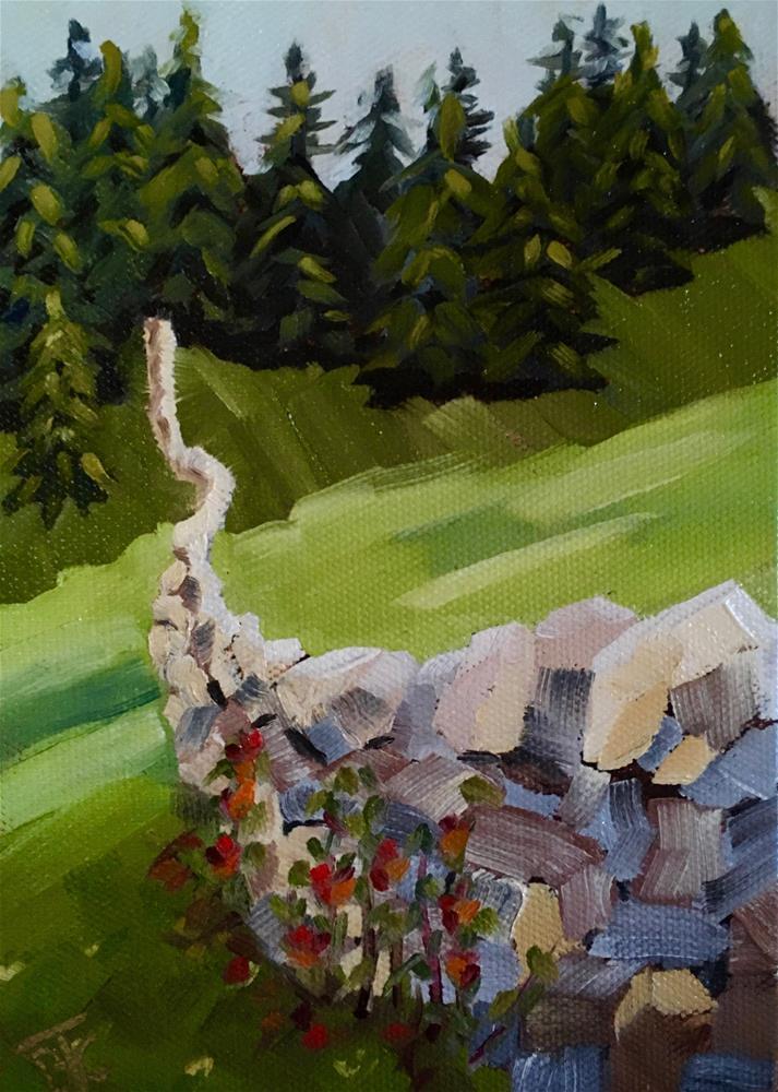 """""""Mending Fences"""" original fine art by Bobbie Cook"""