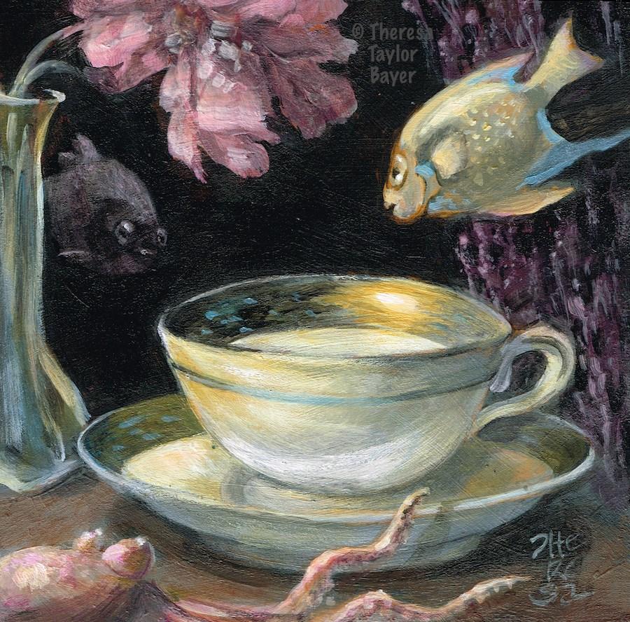 """Underwater Still Life"" original fine art by Theresa Taylor Bayer"