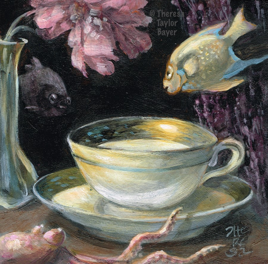 """Underwater Still Life"" original fine art by Theresa Taylor Bayer"
