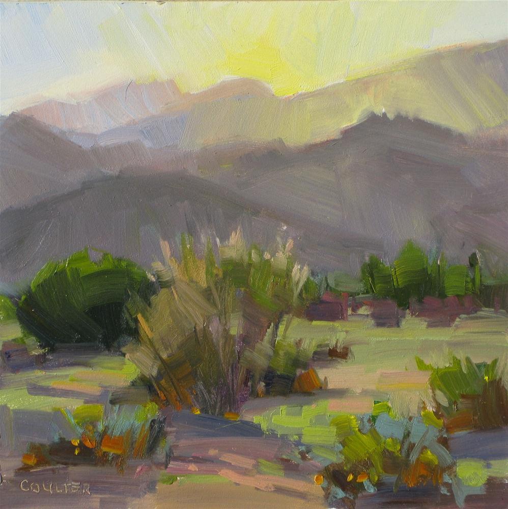 """MINGUS MTN SUNSET"" original fine art by James Coulter"