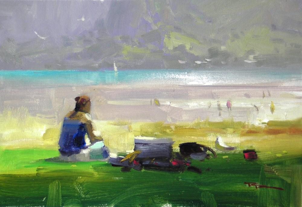 """""""A Quiet Spot"""" original fine art by Richard Robinson"""