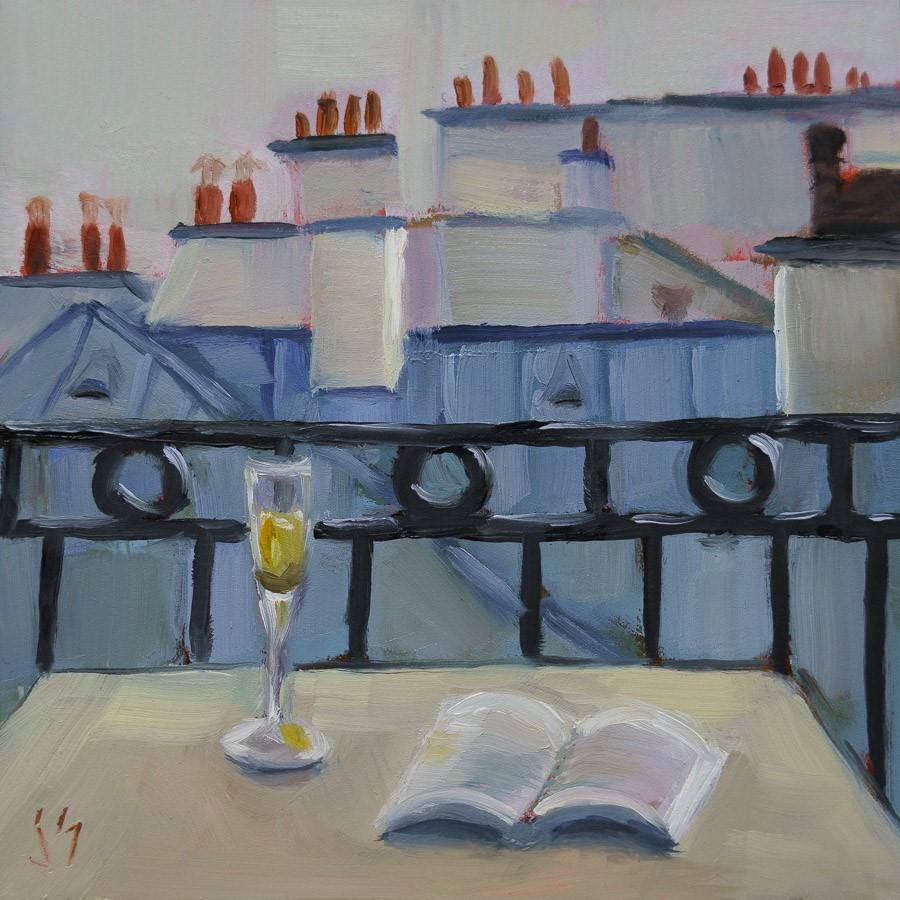 """Late Afternoon - Salut!"" original fine art by Johnna Schelling"