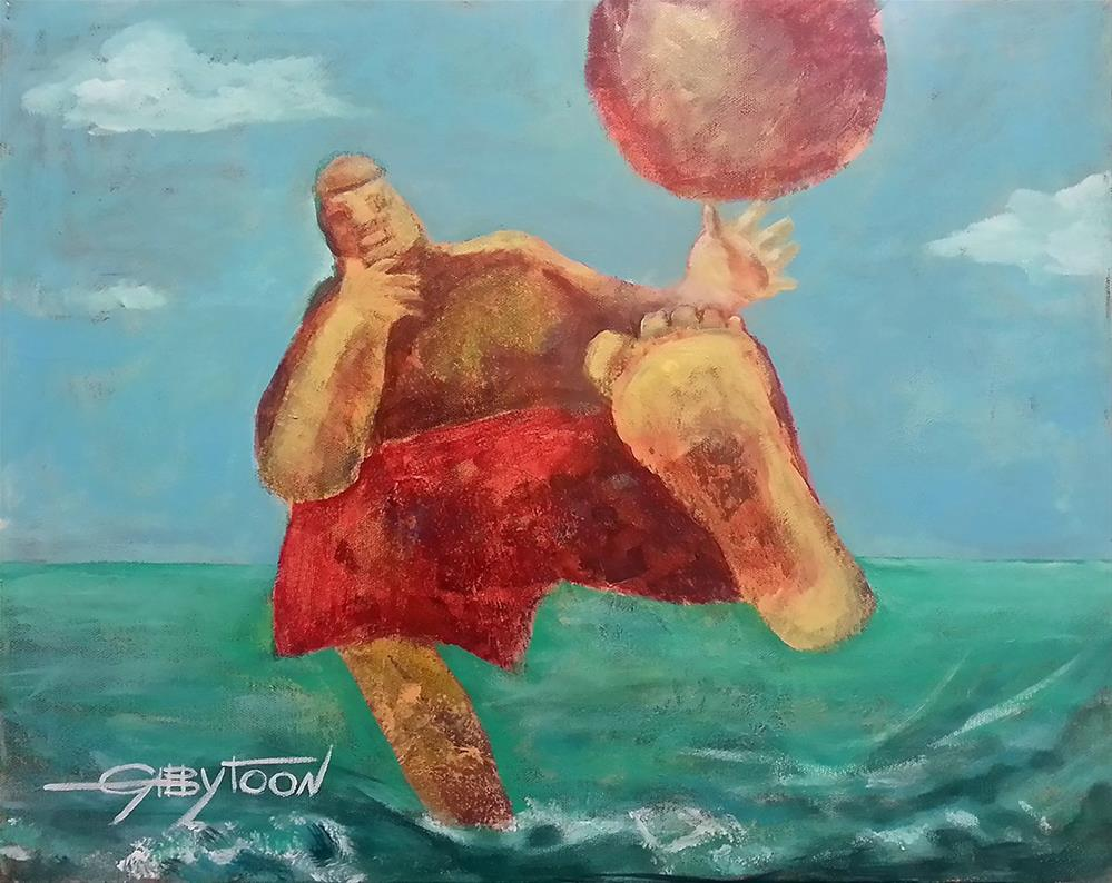 """The Beach"" original fine art by Gabriella DeLamater"