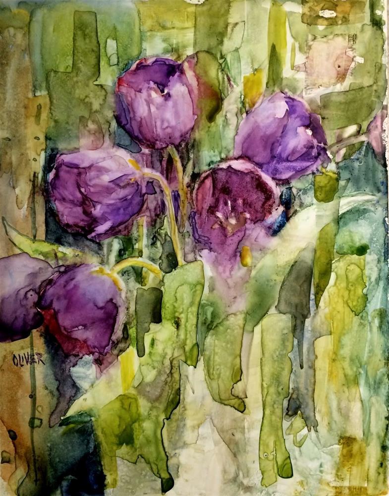 """Tulip Study on Yupo"" original fine art by Julie Ford Oliver"