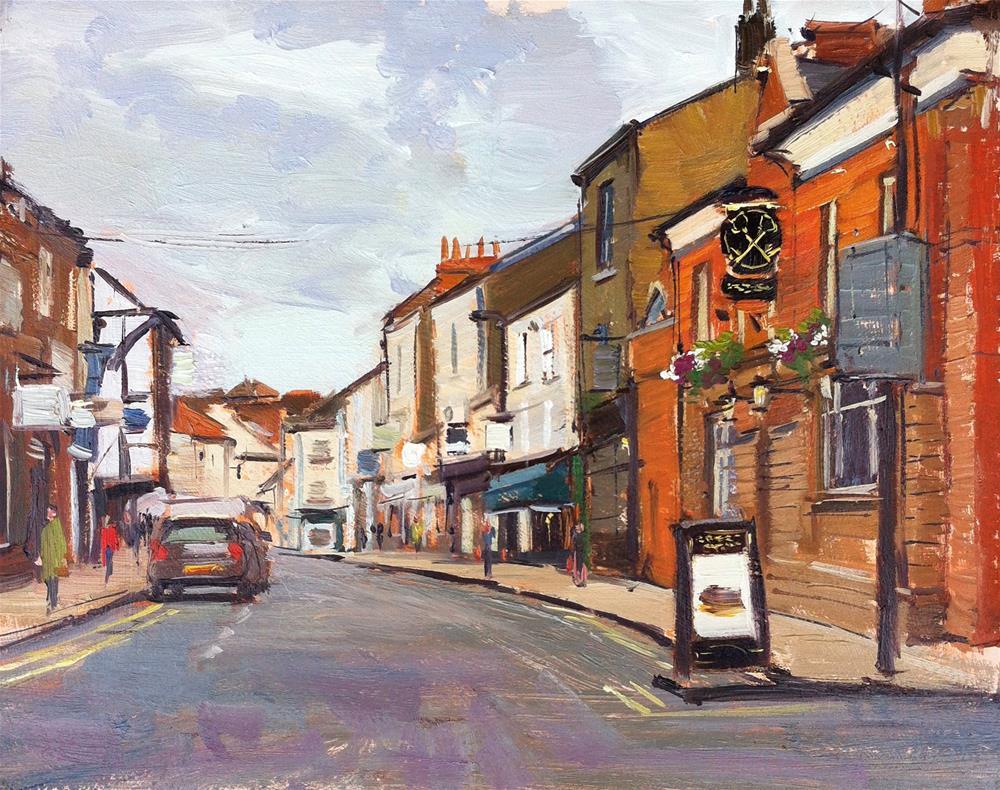 """Grey Evening, Good Ramgate, York"" original fine art by Adebanji Alade"