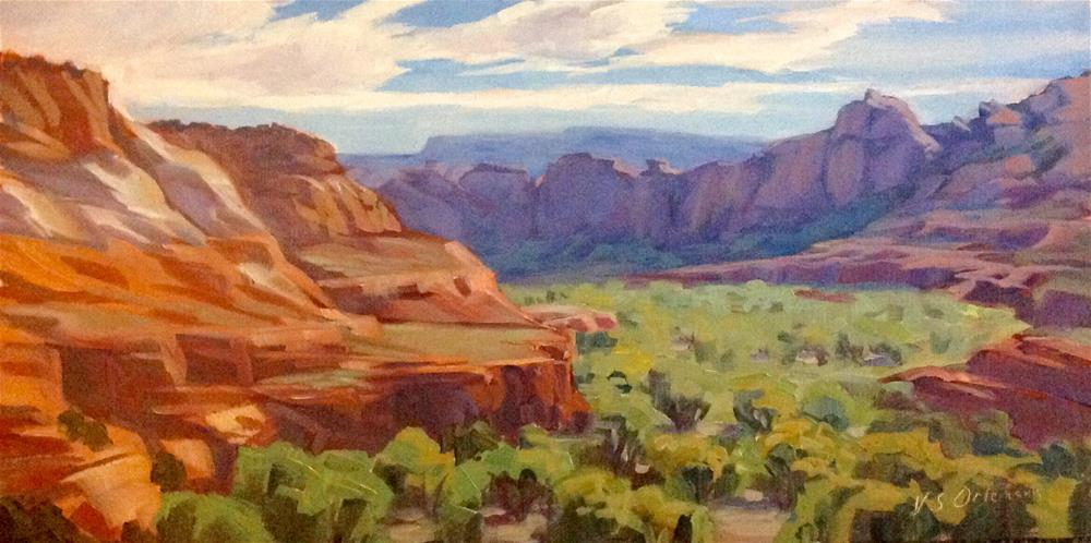 """Pure Joy (Escalante River Canyon from Kiva Coffeehouse)"" original fine art by Valerie Orlemann"