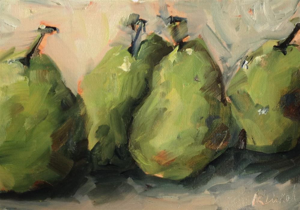 """pear quad"" original fine art by Kristen Dukat"