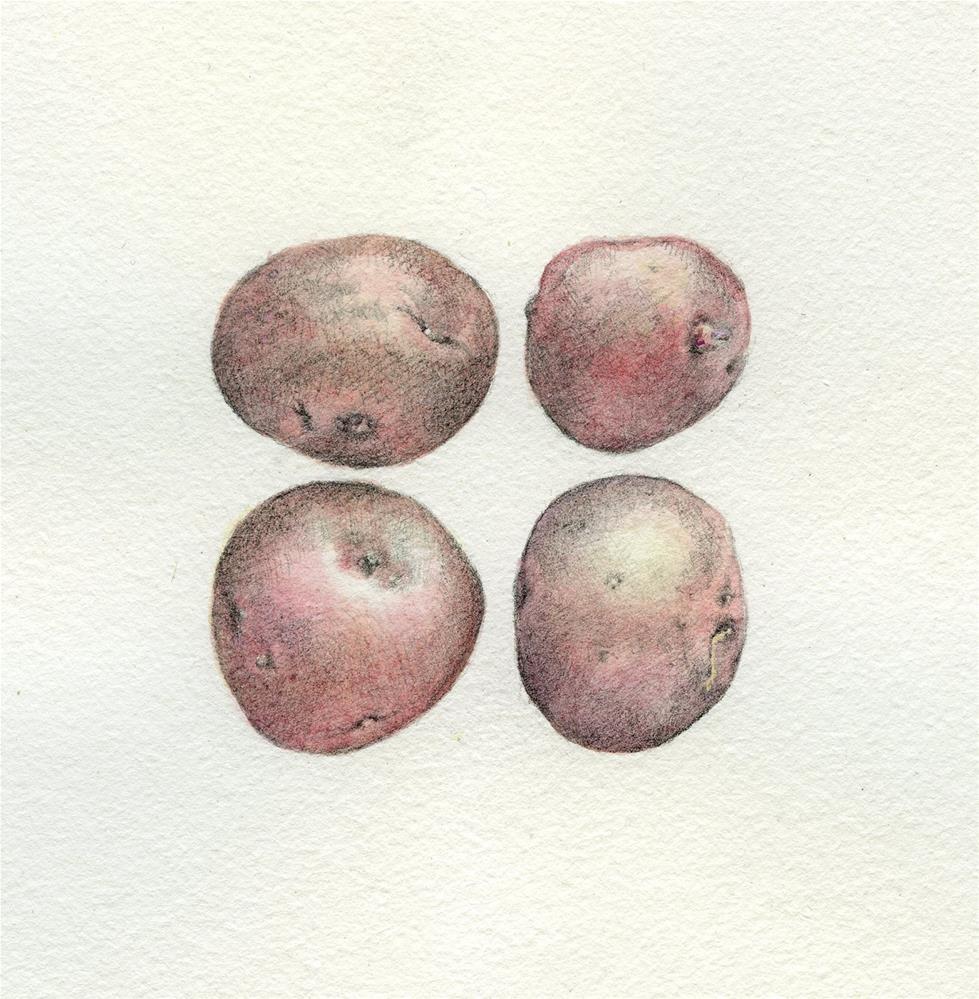 """New Potatoes"" original fine art by Robyn Jorde"