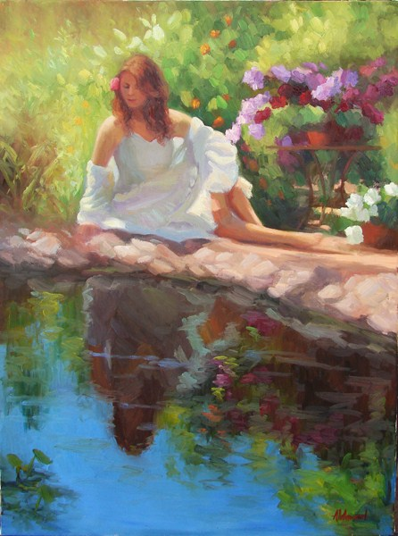 """Marian in the Garden"" original fine art by Sherri Aldawood"