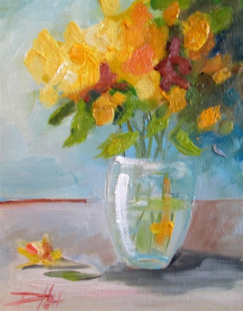 """Floral Still Life No. 11"" original fine art by Delilah Smith"