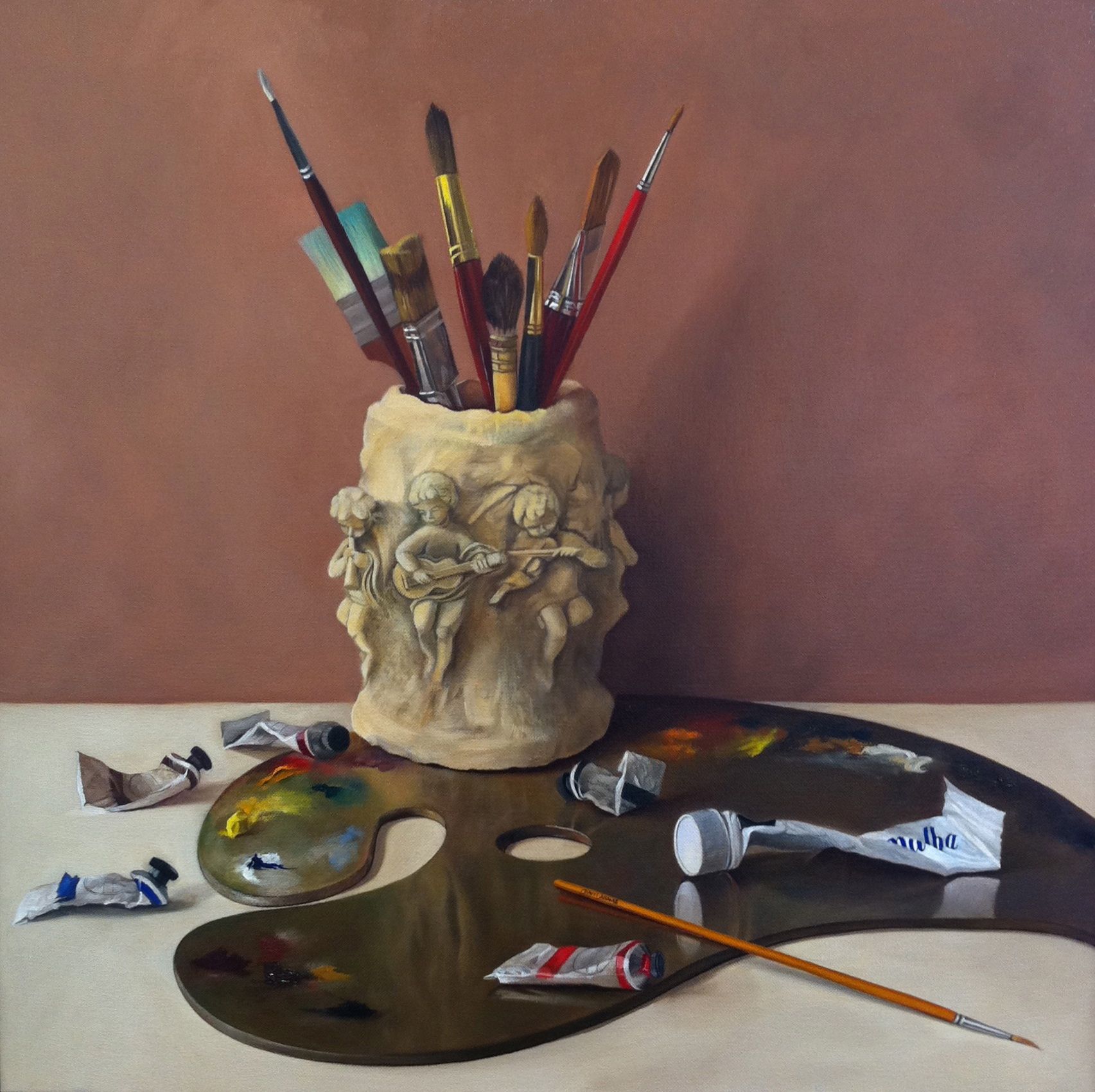 """Painting Music"" original fine art by Patti Adams"