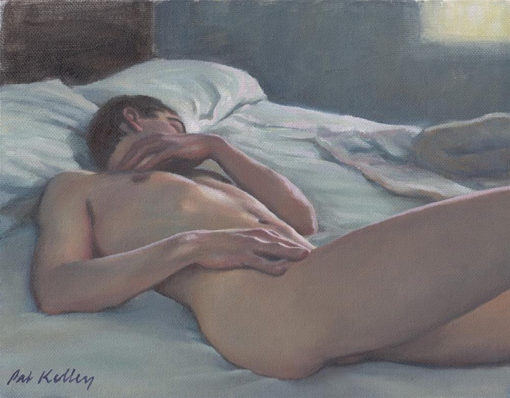 """Man Sleeping"" original fine art by Pat Kelley"