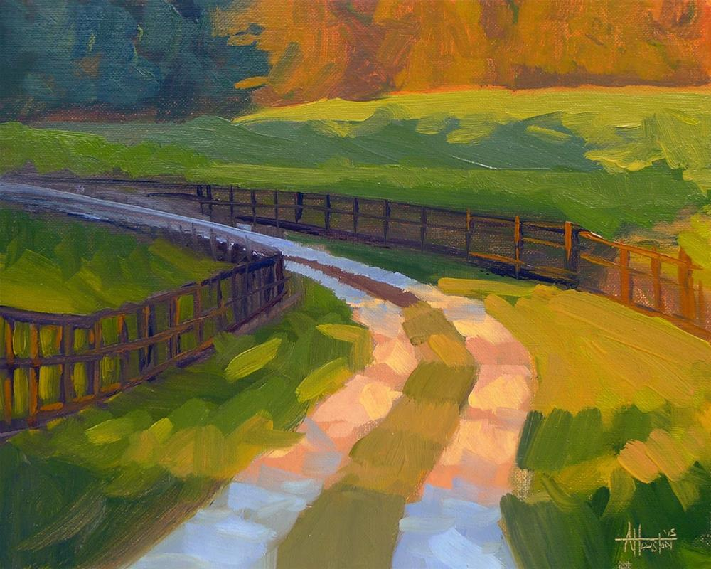 """Sunlit Drive"" original fine art by Adam Houston"