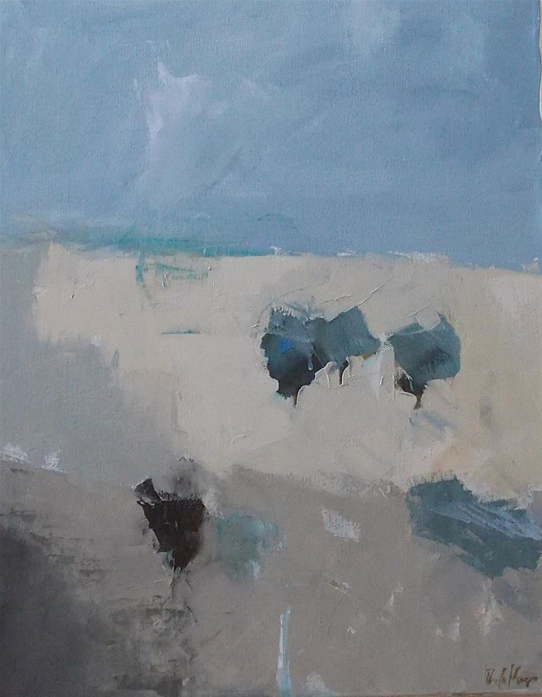 """""""Trees Along Sunset Mesa"""" original fine art by Pamela Munger"""