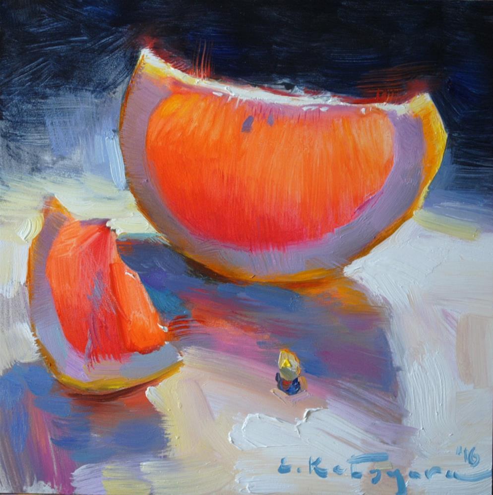 """""""Grapefruit Glow"""" original fine art by Elena Katsyura"""