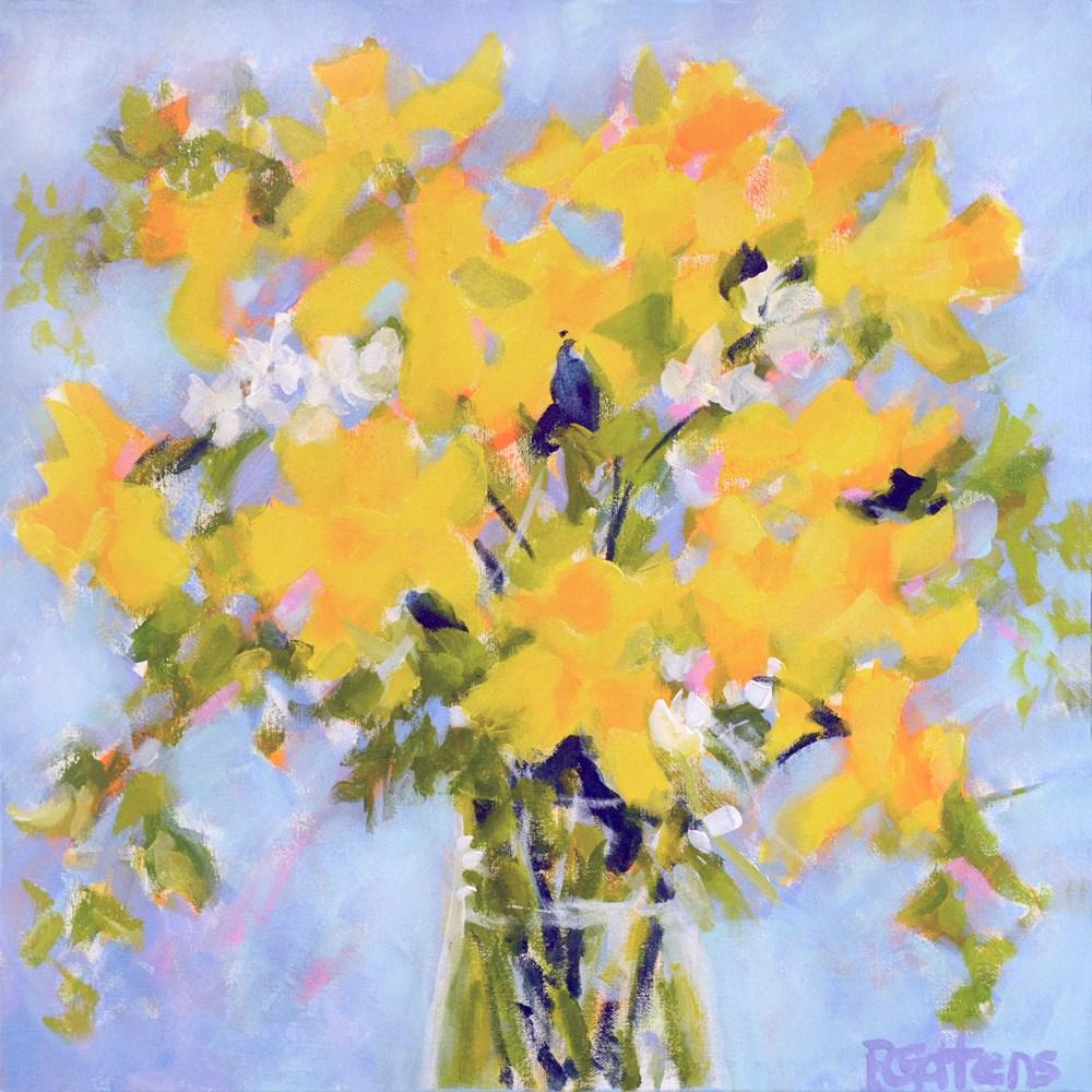 """Daffodil Calypso"" original fine art by Pamela Gatens"