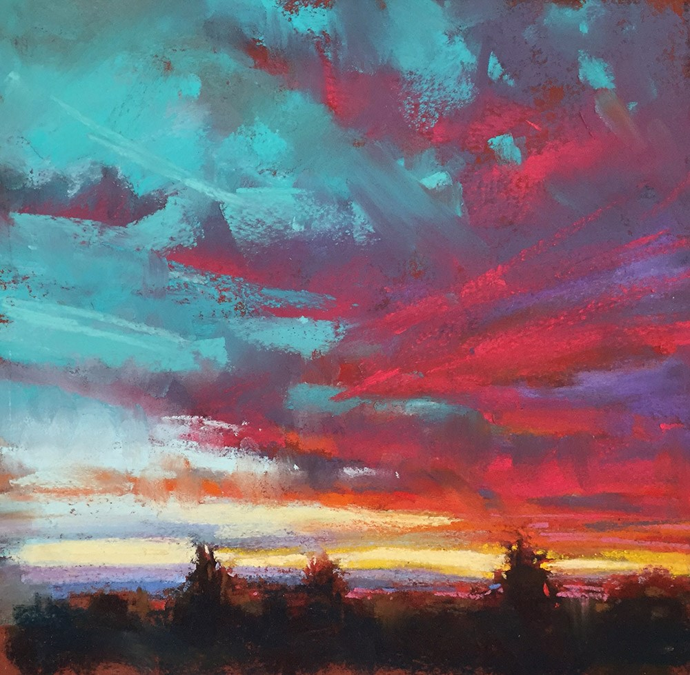 """Wonder of Sunset"" original fine art by Marla Baggetta"