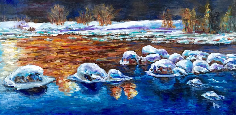 """On the Rocks.."" original fine art by Hema Sukumar"