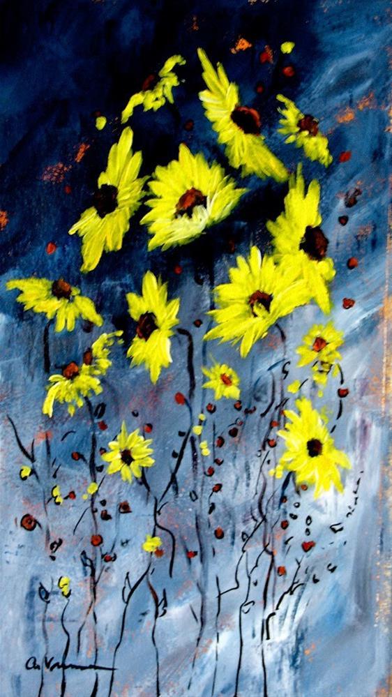 """""""Sunflower #6"""" original fine art by Anna Vreman"""
