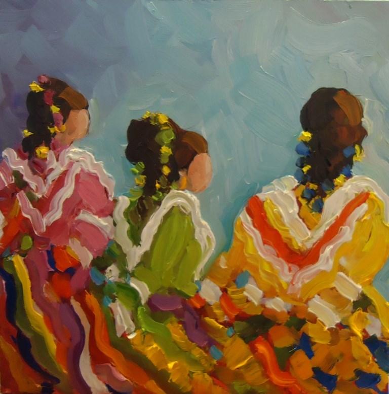 """""""130 COLORES DE BAILLA"""" original fine art by Dee Sanchez"""