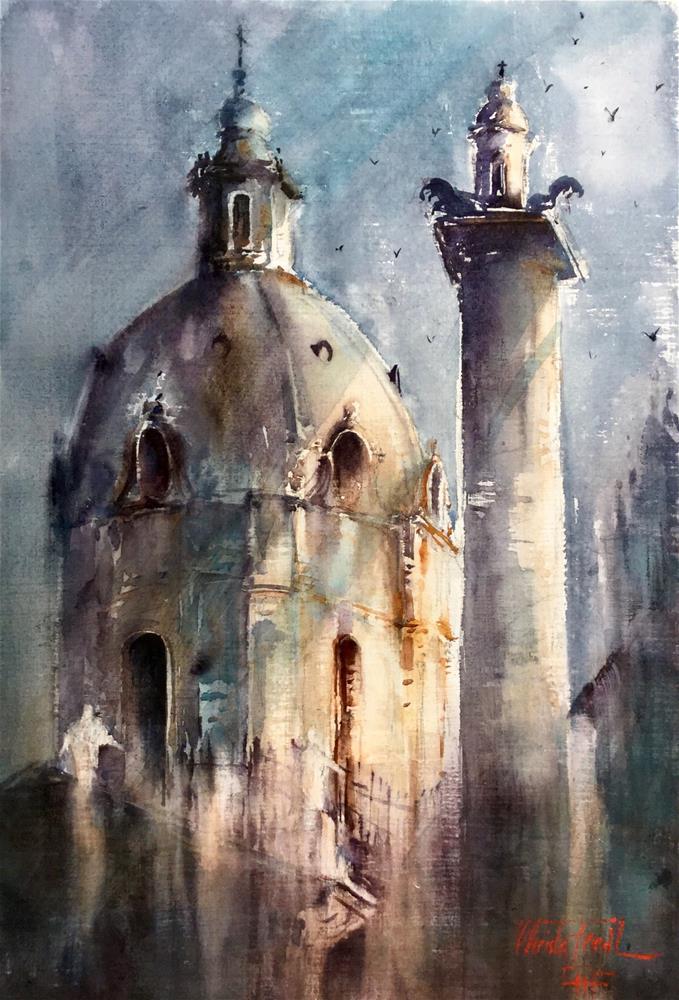 """Sunlit dome"" original fine art by Christa Friedl"