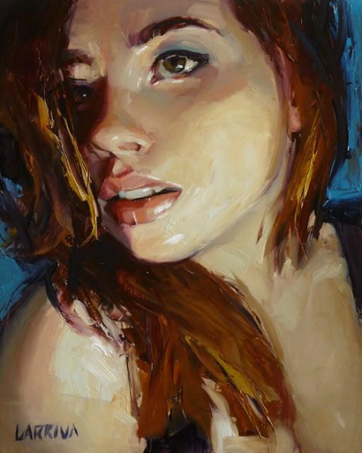 """""""Lean In"""" original fine art by John Larriva"""