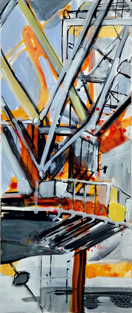 """2513 Cranes 01"" original fine art by Dietmar Stiller"