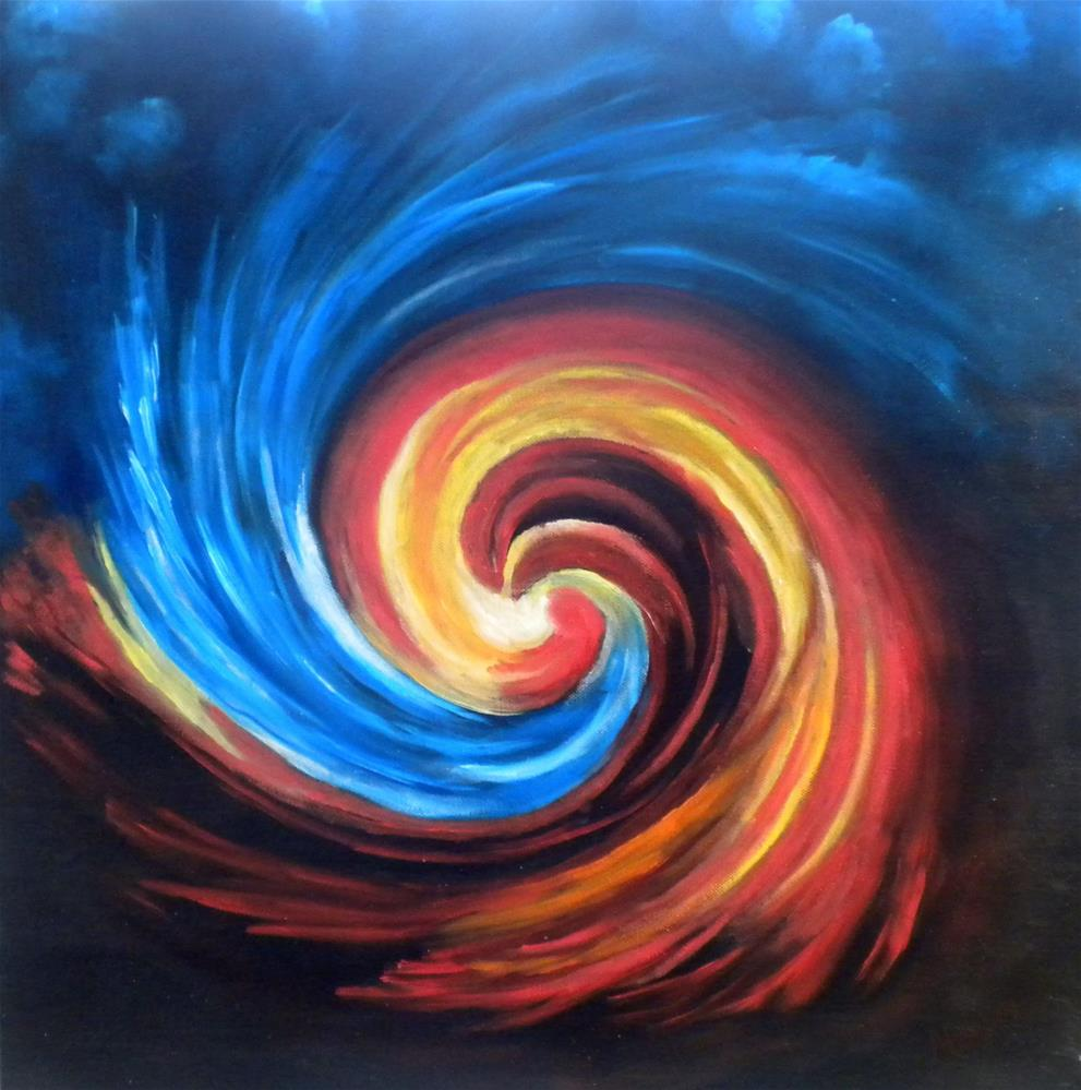 """""""Fire and Ice"""" original fine art by Marti Idlet"""