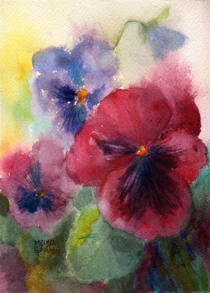 """Summer Pansies"" original fine art by Melissa Gannon"