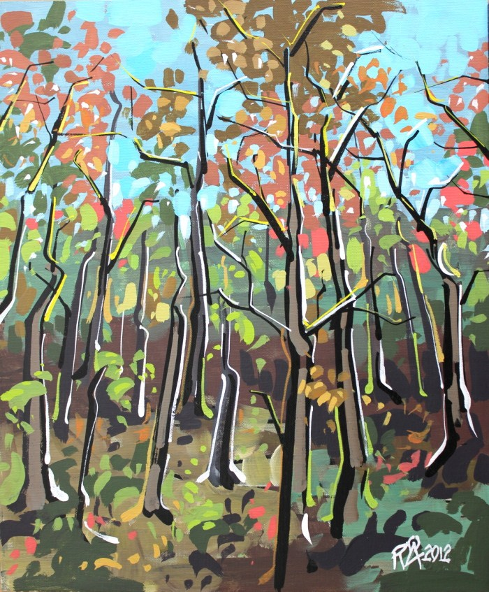 """In the forest 2"" original fine art by Roger Akesson"