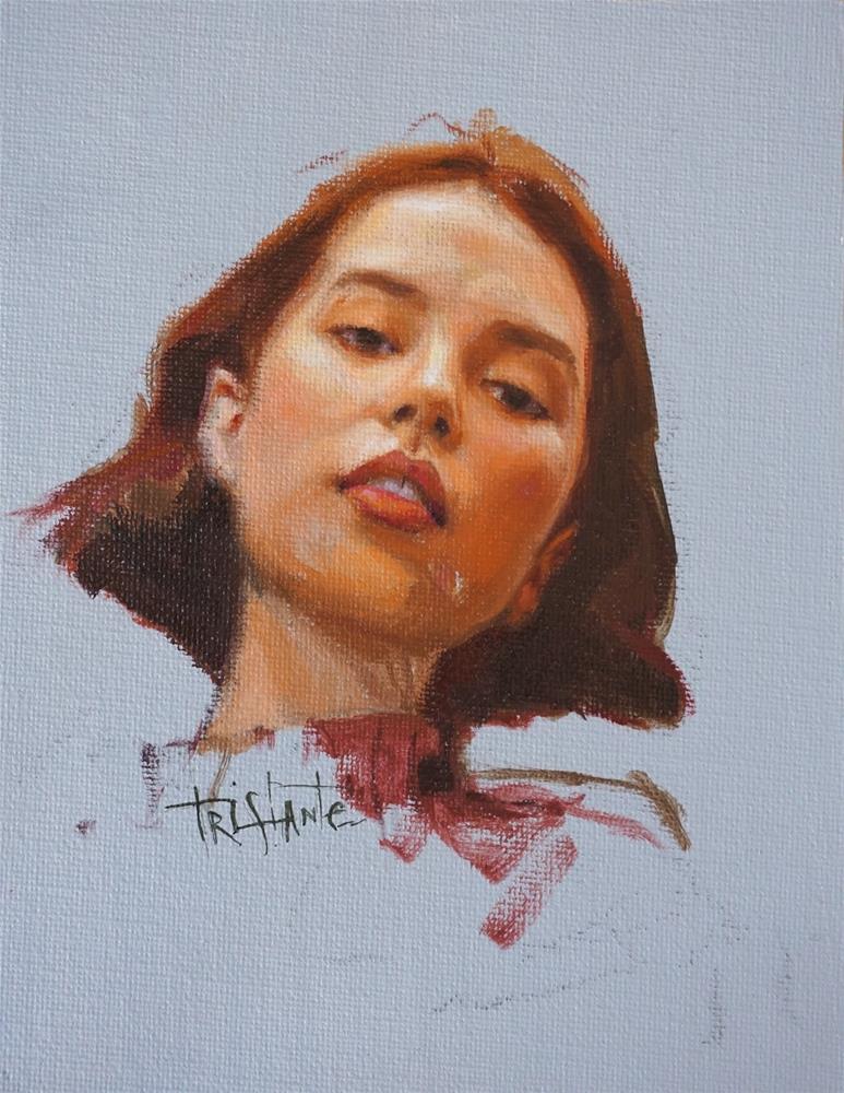 """Head study"" original fine art by Víctor Tristante"