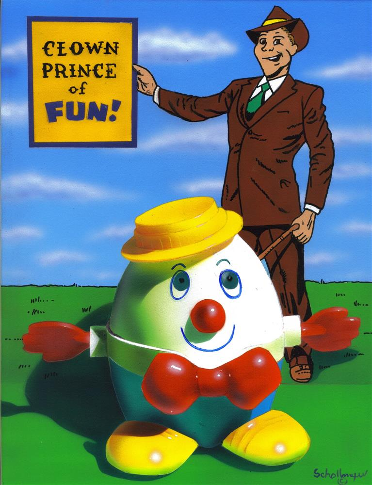"""Clown Prince of Fun"" original fine art by Fred Schollmeyer"