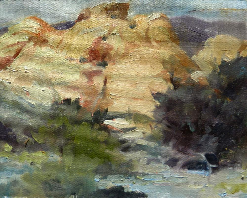 """""""Calico Basin at Red Rock Canyon, plein air painting by Robin Weiss"""" original fine art by Robin Weiss"""