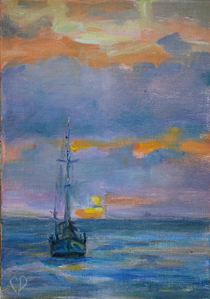 """Where I Wanna Be"" original fine art by Carol DeMumbrum"