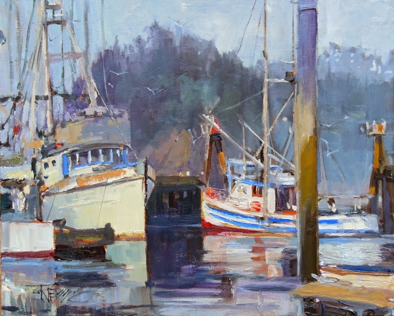 """""""Quilute Marina  marine, landscape, oil painting by Robin Weiss"""" original fine art by Robin Weiss"""
