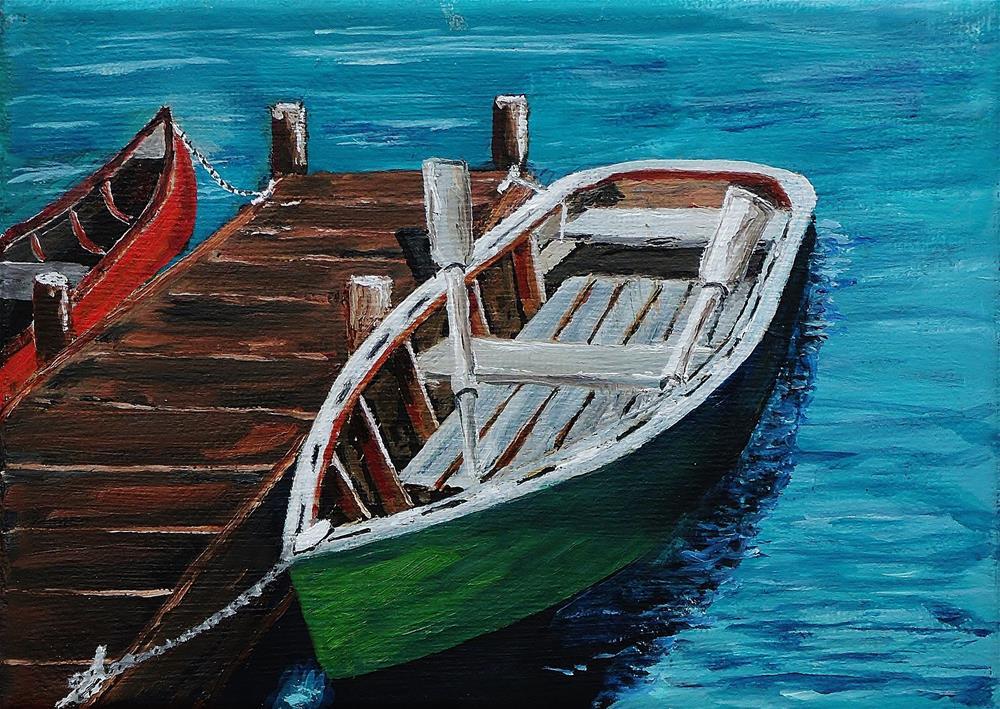 """rowboat"" original fine art by Mike Caitham"