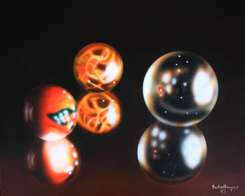 """""""Marble Reflections"""" original fine art by Fred Schollmeyer"""