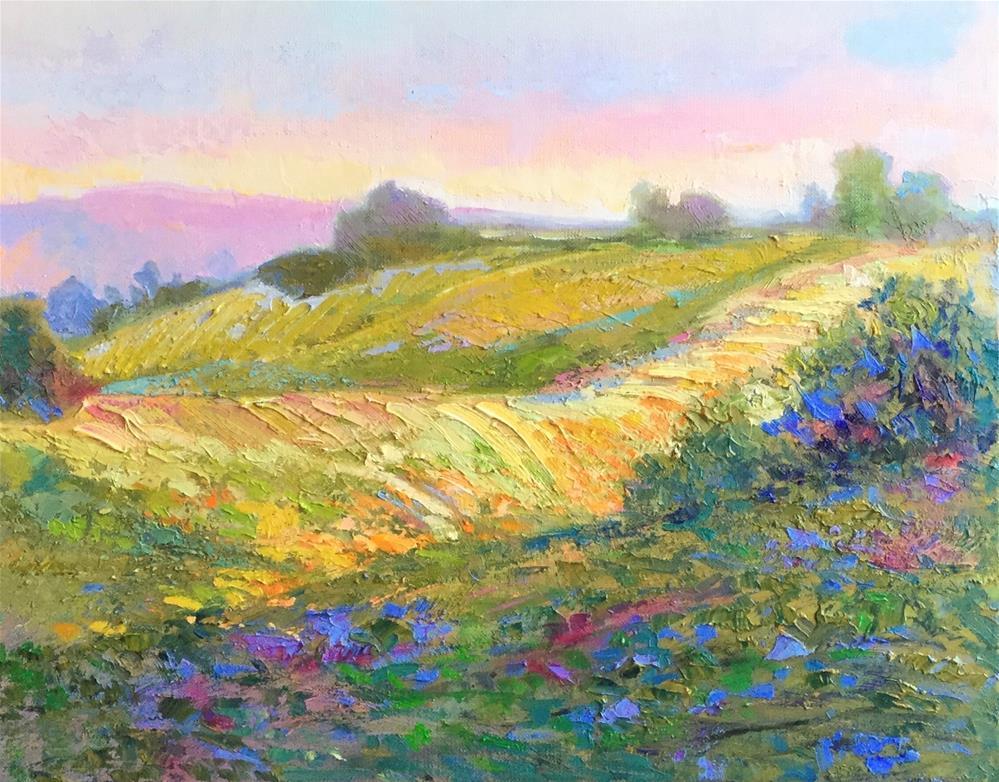 """""""Furrowed Fields"""" original fine art by Charlotte Fitzgerald"""