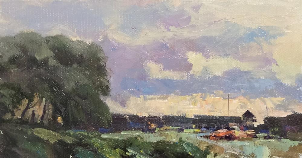 """Down The River.. Faversham "" original fine art by John Shave"