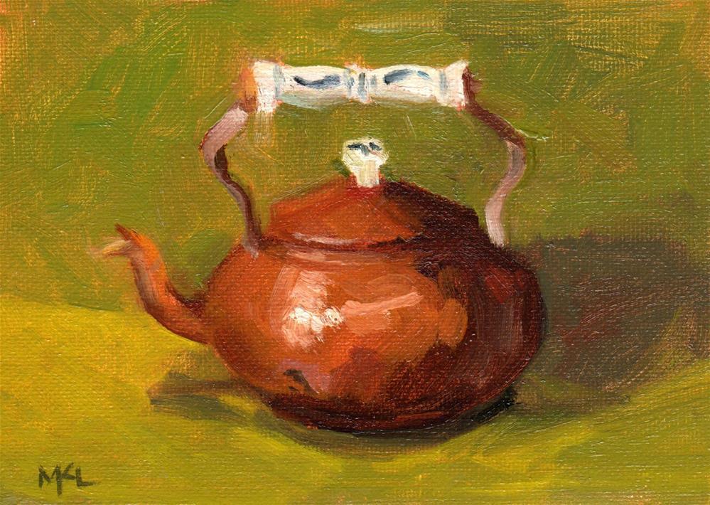 """""""Copper Kettle"""" original fine art by Marlene Lee"""