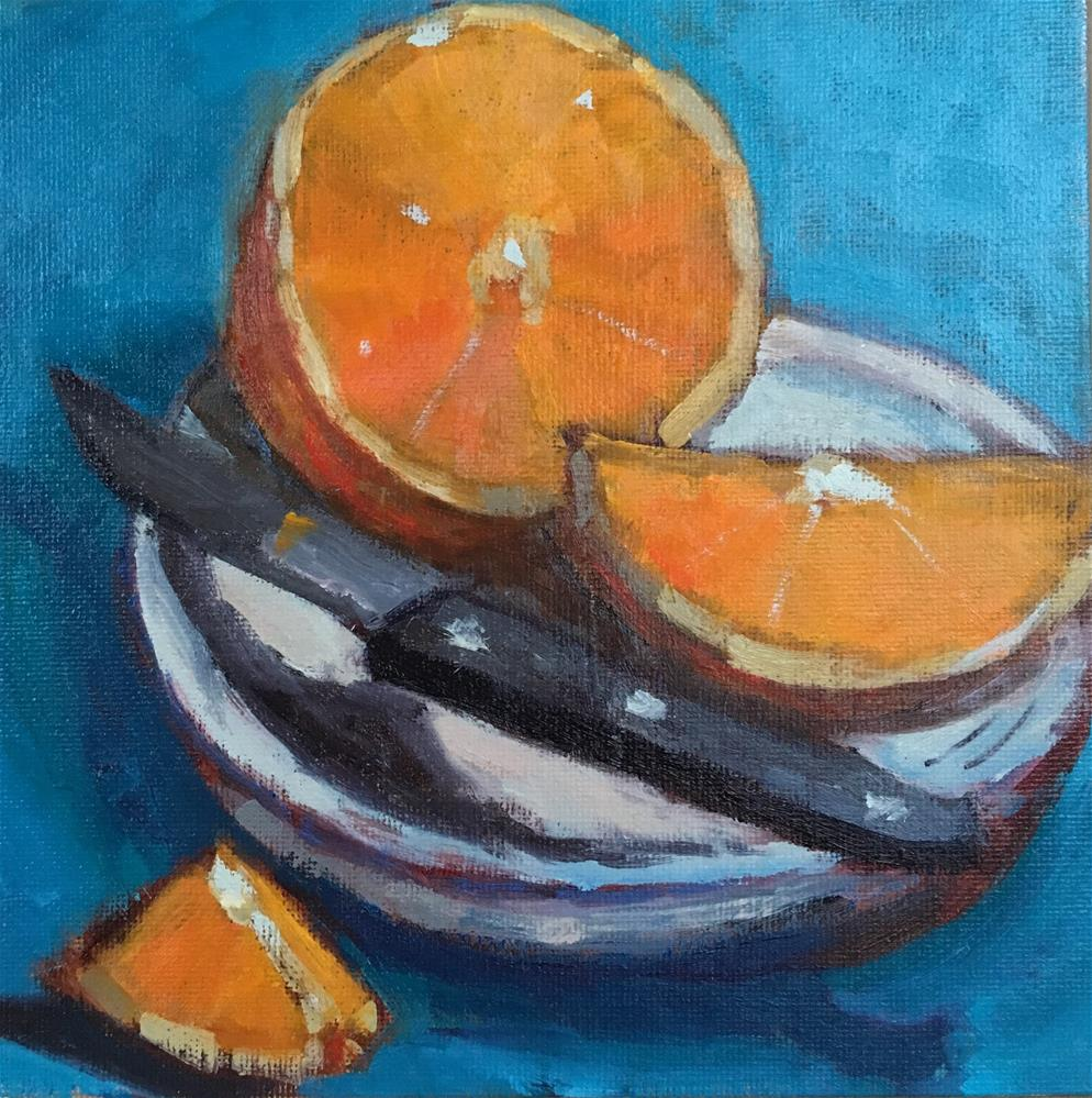 """Orange Slice"" original fine art by Victoria  Biedron"
